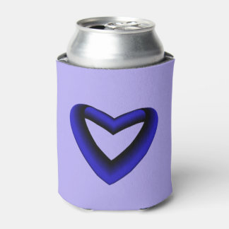 Blue and Black Gradient Heart Can Cooler