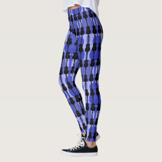 Blue And Black Guitar Leggings