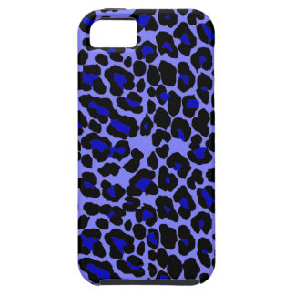 Blue and black leopard print design iPhone 5 case