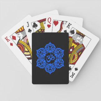 Blue and Black Lotus Flower Om Card Deck
