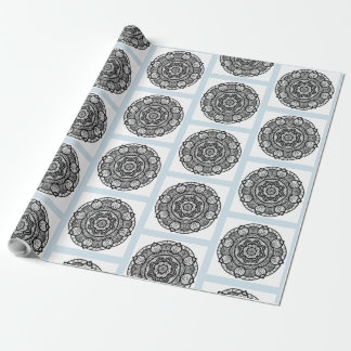 Blue and Black Mandala Mystical Gift Wrap