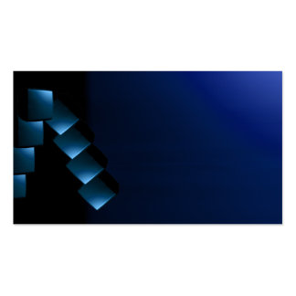 Blue and Black Modern Unusual Visual Biz Card 2 Pack Of Standard Business Cards