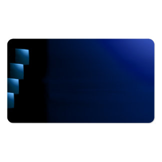 Blue and Black Modern Unusual Visual Biz Card Business Card