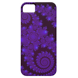 Blue And Black Spiral Fractal iPhone 5 Cases