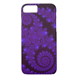 Blue And Black Spiral Fractal iPhone 7 Case