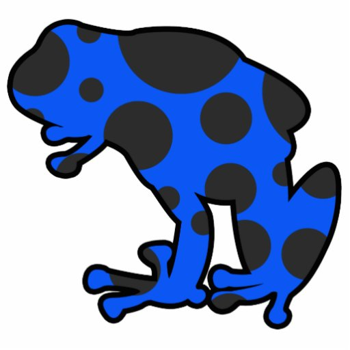 Blue and Black Spotted Frog Photo Cutouts