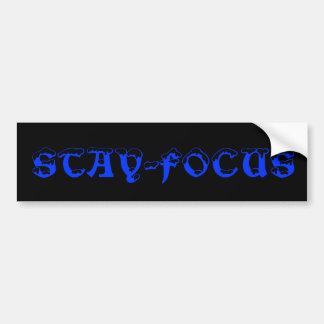 blue and black stay focus bumper sticker car bumper sticker