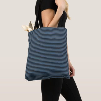 Blue and Black Stripes Tote Bag