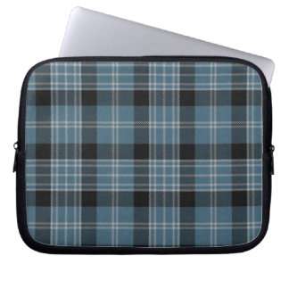 Blue and Black Tartan Plaid Laptop Cover