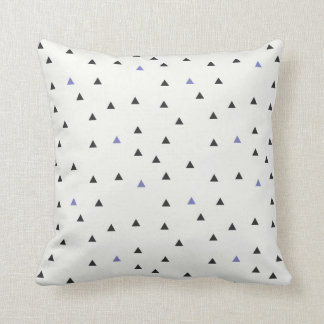 Blue and Black Triangles Pillow