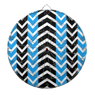 Blue and Black Whale Chevron Dartboard