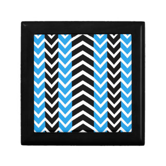 Blue and Black Whale Chevron Gift Box