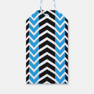 Blue and Black Whale Chevron Gift Tags