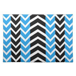 Blue and Black Whale Chevron Placemat