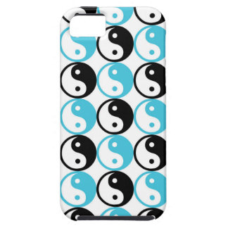 Blue and black yin yang pattern case for the iPhone 5