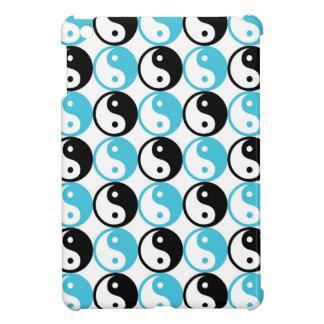 Blue and black yin yang pattern iPad mini case