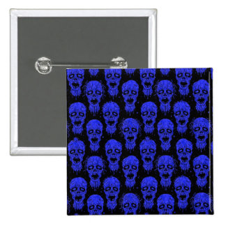 Blue and Black Zombie Apocalypse Pattern Pins
