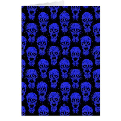 Blue and Black Zombie Apocalypse Pattern Cards