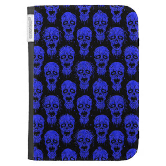 Blue and Black Zombie Apocalypse Pattern Kindle 3G Case