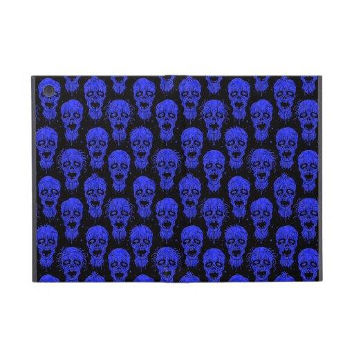 Blue and Black Zombie Apocalypse Pattern iPad Mini Case