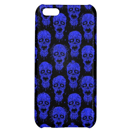 Blue and Black Zombie Apocalypse Pattern iPhone 5C Covers