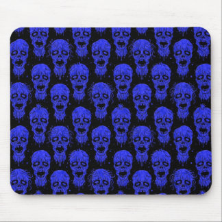 Blue and Black Zombie Apocalypse Pattern Mouse Pad