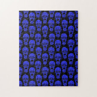 Blue and Black Zombie Apocalypse Pattern Puzzles