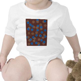 Blue and Brown Balls Tshirts