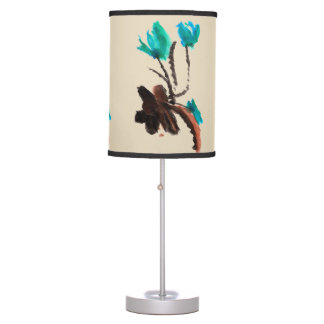 Blue and Brown Lamp