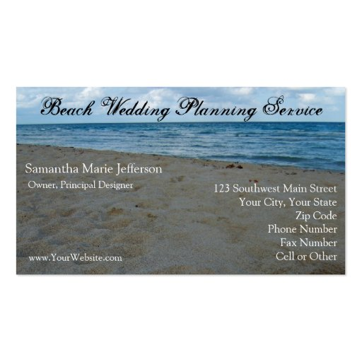 Blue and Brown Sand Beach Business Card