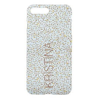 Blue and Brown Snow Leopard Clear Phone Case