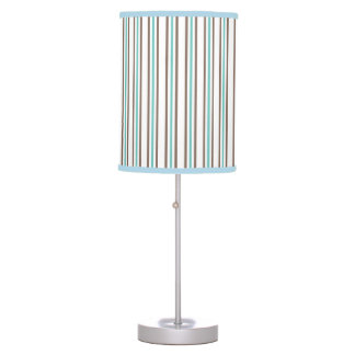 Blue and Brown Stripe Lamp