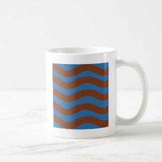 Blue and Brown Waves Coffee Mug