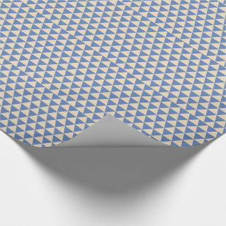 Blue And Creamy White Triangle Pattern Wrapping Paper