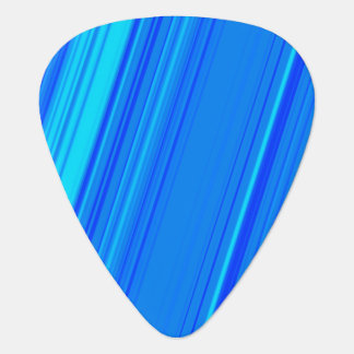 Blue and Cyan Lines Pattern Guitar Pick