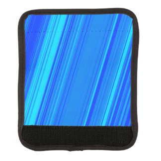 Blue and Cyan Lines Pattern Luggage Handle Wrap