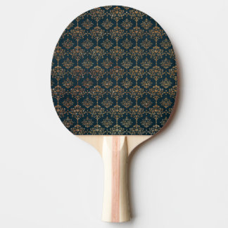 Blue and Faux Gold Glitter Ping Pong Paddle