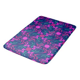 Blue and Fuchsia Pink Star Seamless Vector Pattern Bath Mat