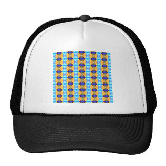 Blue And Gold Abstract Pattern Trucker Hat