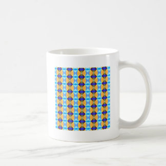 Blue And Gold Abstract Pattern Coffee Mugs