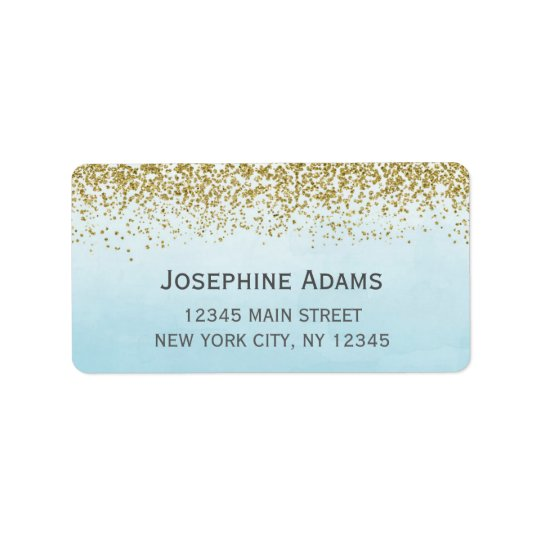 Blue and Gold Address Labels