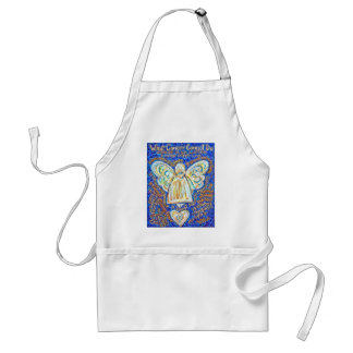 Blue and Gold Cancer Angel Apron