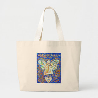 Blue and Gold Cancer Angel Bag