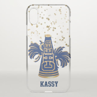Blue and Gold Cheerleader iPhone X Case