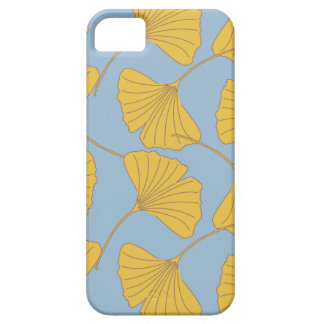 Blue and Gold Fall Ginkgo Ginko Biloba Leaves iPhone 5 Covers