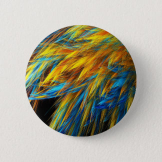 Blue And Gold Feathering Button