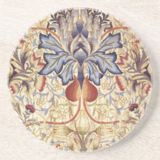 Blue And Gold Flowers Coaster