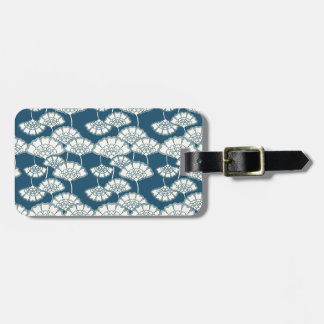 Blue and gold foil Japanese pattern Bag Tag