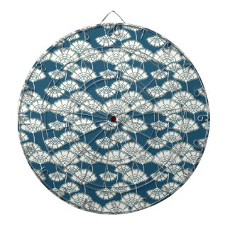 Blue and gold foil Japanese pattern Dartboards