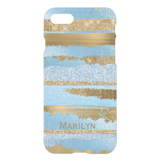 Blue and Gold Glam iPhone 7 Case